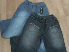 "GENEROUS FITTING BOYS JEANS - FROM AGE 9 UPTO 42"" WAIST"