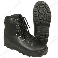 German Army Style Black Mountain Boots - All Sizes Military Modern Shoes
