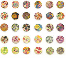 30 Pop Wood Painting Sewing Buttons Scrapbooking 30mm M0091