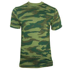 RUSSIAN Woodland CAMO Army T-Shirt - ALL SIZES - Camouflage Tops