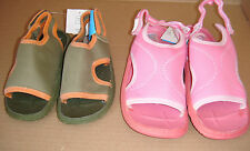 Kids Pink or Green Ex Chainstore Beach Sandals Sizes 9,10,11,13,1 Available