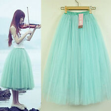 New Women's Stylish 5 Layers Tutu Skirt Petticoat Knee-Length Length Mini Dress