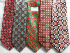 MENS NEW TIES HAND MADE 100% POL .PRICE FOR   5 TIES -T 052
