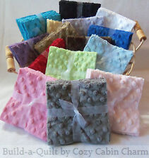 """12 ~ 5"""" Shannon Minky Raised Dot Fabric Squares *Select-a-Color* FREE SHIPPING!!"""