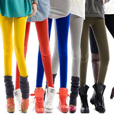 Fashion Girl Candy Color Slim High Waist Stretchy Footless Leggings Pant Jegging
