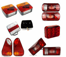 Rear Rectangle Triangle Trailer Lorry Van LED 5 6 7 Function Set Lights Fog New
