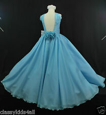 Children Teen Girl National PAGEANT Wedding Dress Blue Sz 3 4 5 6 7 8 10 12 14