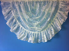 JACQUARD LACE NET CURTAIN SWAG,IN WHITE OR CREAM