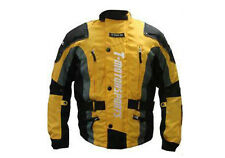 Mens Yellow Enduro Armor Jacket Motorcycle Touring Dual Sport Dirt Bike MX ATV