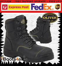 Oliver Work Boots AT'S 55245Z Black Zip Lace-Up Safety New + Warranty