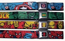 Seat Belt Buckle Marvel Comics Captain America Hulk Iron SpiderMan