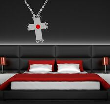 Wall Art sticker transfer bedroom,lounge,kitchen GOTHIC NACKLACE, CHAIN CROSS