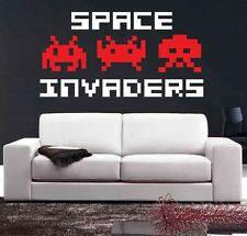 Wall Art sticker decal vinyl Space Invaders - 80's Arcade Game, Atari. 3 Sizes