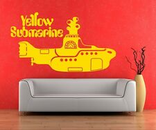 Wall Art sticker decal vinyl yellow submarine beatles beetles funky design