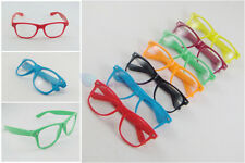 Unisex Colorful Vintage Retro Fashion Cool Glasses Frame Eyewear with Clear Lens