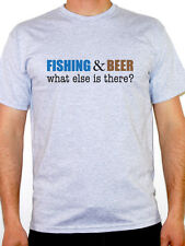 FISHING AND BEER - Fish / Sport / Drinking / Funny / Novelty Themed Mens T-Shirt
