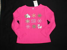 NWT GYMBOREE CHEERY ALL THE WAY  SCOTTIE DOG SNOW CUTE CHRISTMAS TOP SHIRT
