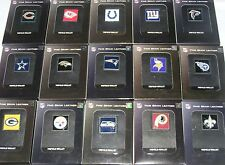 NEW NFL Leather Tri-Fold Wallet with Pewter Logo Emblem: 20+ Teams! NEW Wallets