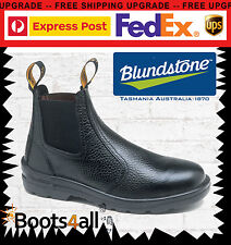 Blundstone Mens Work Boots Safety Steel Toe Black Leather 330 Free Express Post