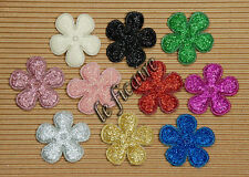 "U PICK~ 1"" Padded Glitter Flower Appliques Crafts Scrapbooking x 60 pcs #2362"
