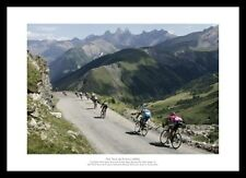 Tour de France 'Alps Descent' Cycling Photo Memorabilia (RE0010)