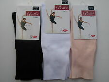 Two Pairs Girls Ballet Socks Size 6-8, 9-12, 12-3.