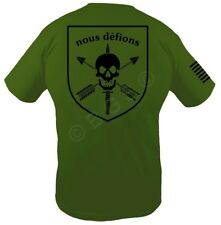 NOUS DEFIONS or WE DEFY Special Forces T shirt OD Green Spec ops Pro Gun S - XL