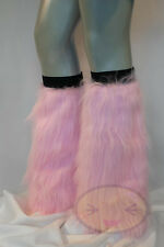 Light Pink Fluffy Legwarmers Rave Wear Accessories