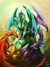 Dragon Meeting - CANVAS OR PRINT WALL ART