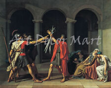 The Oath of the Horatii - CANVAS OR PRINT WALL ART