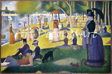 A Sunday On La Grande Jatte  - CANVAS OR PRINT WALL ART