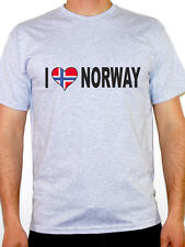 I Love Norway T-Shirt - Mens - Various Sizes and Colours