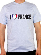 I Love France T-Shirt - Mens - Various Sizes and Colours