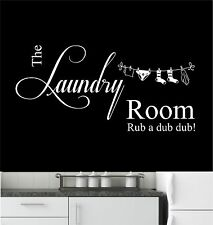 The Laundry Room - Wall Art Sticker, Decal Mural, Kitchen, Utility Room