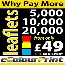 Printed full Colour leaflets / flyers on 150gms - DL, A6, A5 or A4
