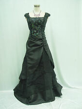 Cherlone Plus Size Black Long Wedding Evening Ballgown Formal Bridesmaid Dress