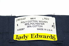 NWT LADY EDWARDS POLY COTTON WOVEN DRESS/WORK PANTS FOR WOMEN NAVY BLUE USA 8510