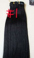 REMY HUMAN WEFT HAIR EXTENSIONS #1 BLACK 160 GRAMS OF HAIR THICK ENDS BODY BLING