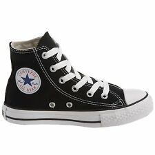 CONVERSE CHUCKS BLACK/WHITE HI TOP CANVAS NEW IN BOX ( KID'S )SIZE'S 11 TO 3