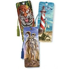 STUNNING 3D bookmarks - for books - unusual gift - fun dog cat flowers kids uk