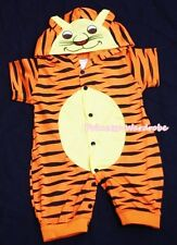 HALLOWEEN Baby Toddler TIGER One-Piece Jumpsuit Outfit UNISEX Costume NB-18Month