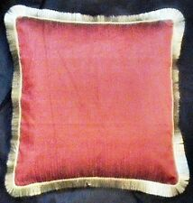EXTREMELY BEAUTIFUL DESIGNER FAUX SILK CUSHION COVER PILLOW CASE BURGUNDY HD EHS