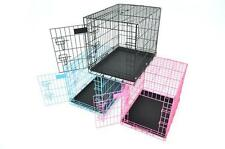 """New Champion 24"""" Portable Folding Dog Pet Crate Cage Kennel Two Door"""