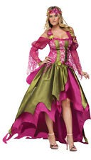 FAIRY QUEEN RENAISSANCE GOWN CORSET ADULT WOMENS COSTUME Halloween Party