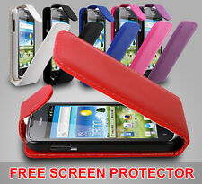 FLIP LEATHER SERIES CASE COVER FOR HUAWEI ASCEND G300 + SCREEN PROTECTOR