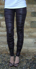 Rats Chilli Chocolate Ruched Wet Look Leggings Sizes UK 20 22 24
