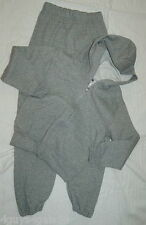 Hooded Sweat Jacket & Sweatpants BOYS Jerzees S 6-8 M 10-12 L 14-16 GRAY