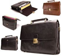 Visconti Vintage Leather Large Business Briefcase Attache Bag New BNWT 18074