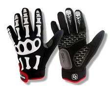 On Sale!2013 Cycling/Bicycle Gel Pad Skeleton Full Finger Gloves M-XL 1291-lm08