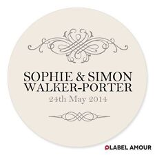 PERSONALISED Wedding Favour Sticker Seals Labels | 4 Sizes